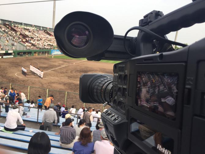 高校野球ではカメラマンとして毎日球場!