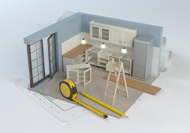 3D Rendering. Cabinetry. Plans. Design.