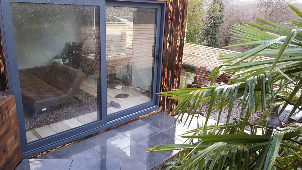 SIPs Garden Office Triple Glazed | Clad in Burnt Larch | Cheshire