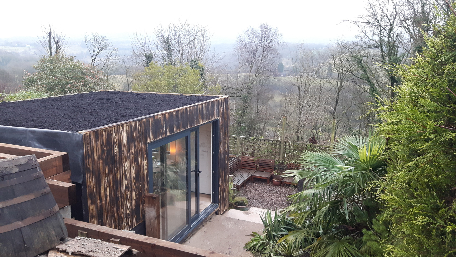 Seeded Green Roof | Garden Office Cheshire