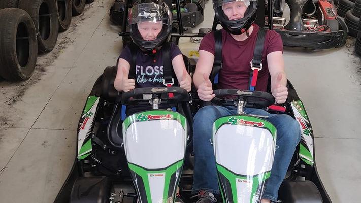twin seat go kart family