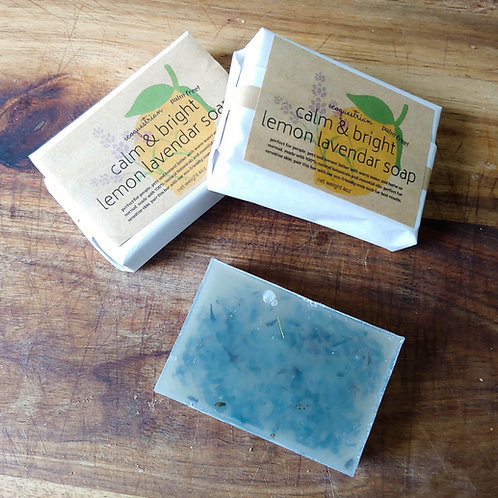 PALM FREE! Calm & Bright Lemon Lavender Soap 4oz