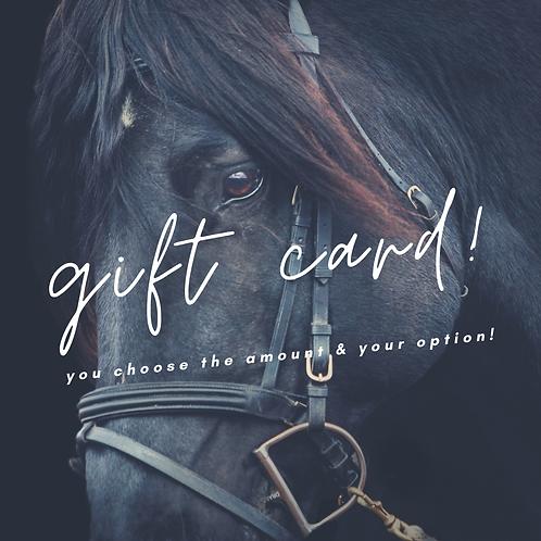 Ecoquestrian Gift Card