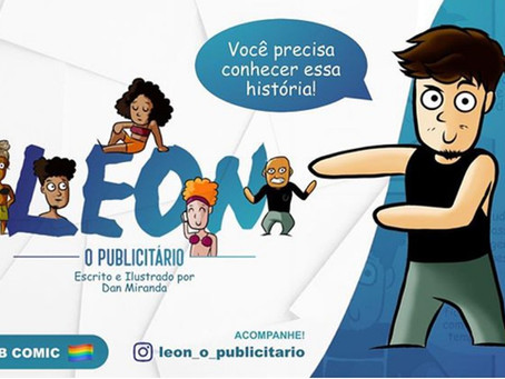 """Live no Instagram com Danilo Mirandas, autor da webcomic """"Leon, o Publicitário"""""""