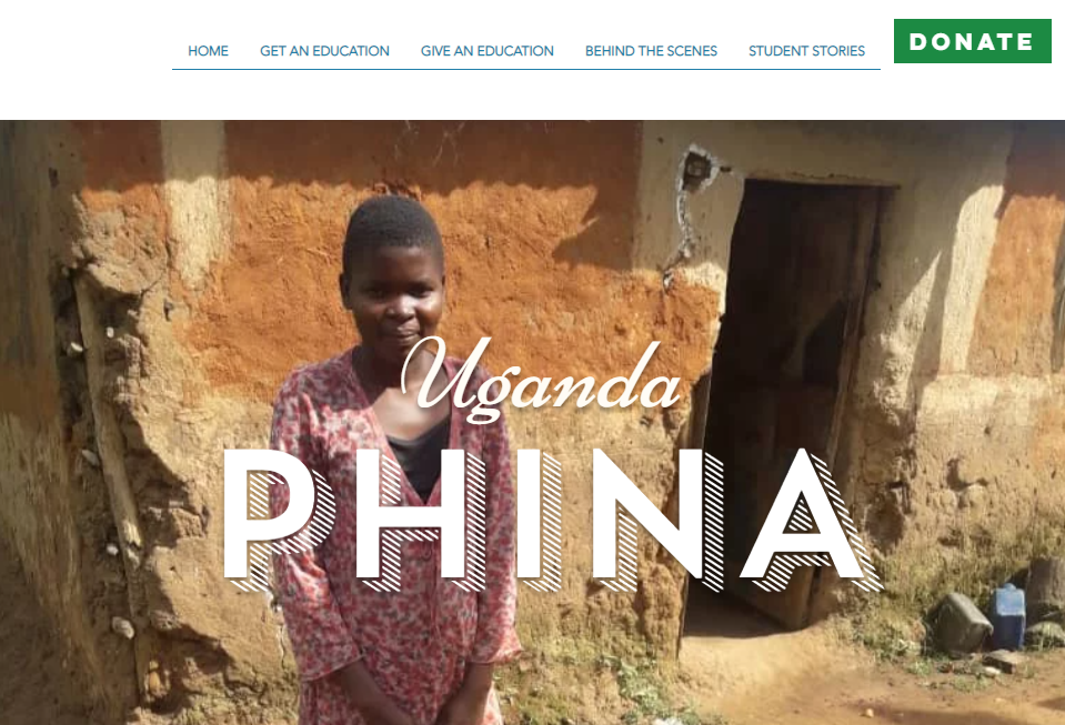 Phina standing in front of her home in Uganda. The Deaf Dream.