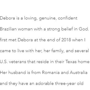 Curricular Narrative: My Interview with Debora