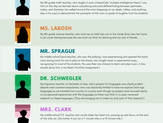 Called to Teach: My Most Influential Teachers (Infographic)