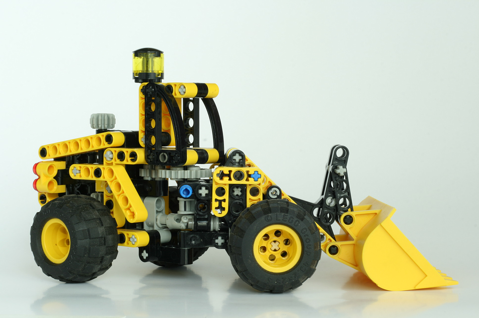 Lego tractor set. Destiny Yarbro blog. Inspiration for online projects.