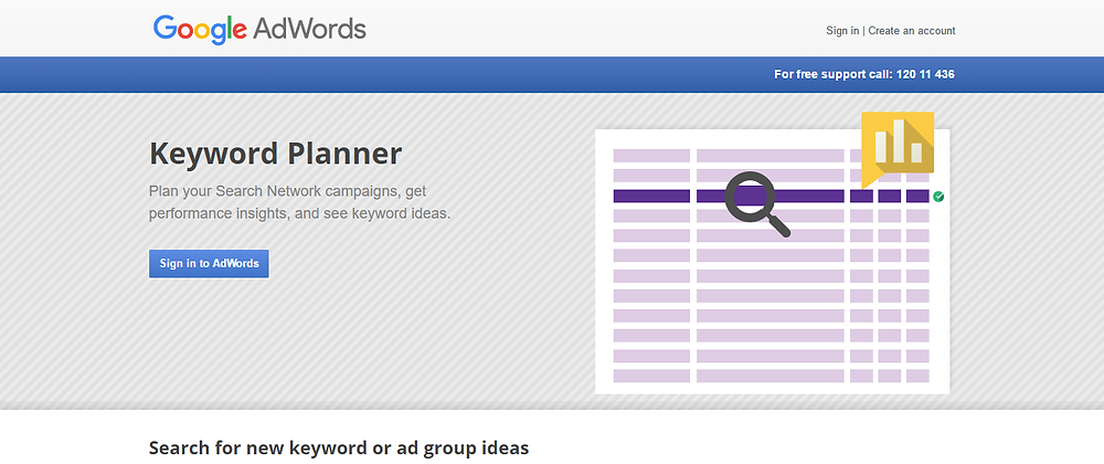 Screen shot of Google Adwords / Keyword Planner page. Destiny Yarbro blog. Daily inspiration for your online projects.