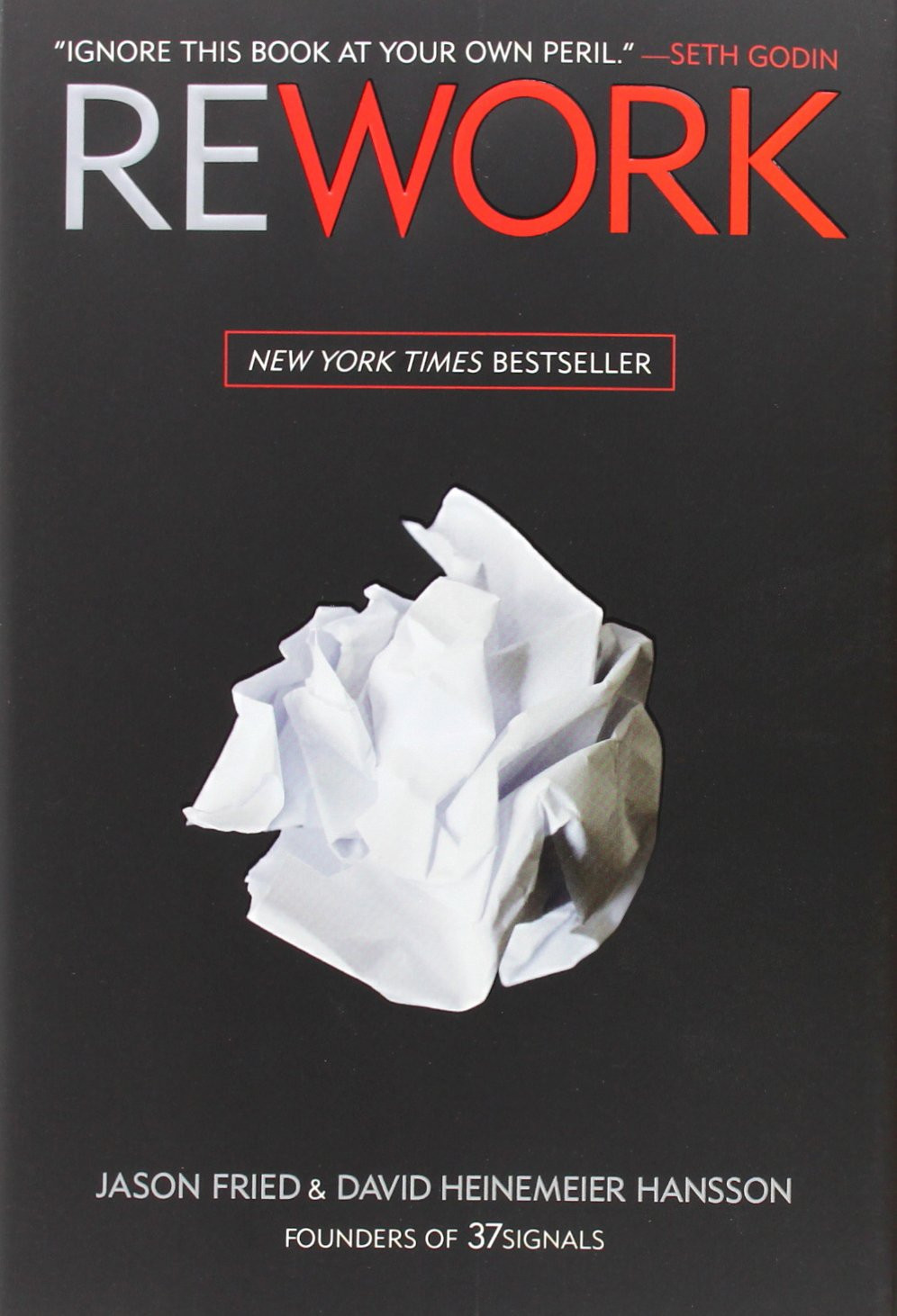 """Link to Amazon link for """"Rework"""" - one of my personal library classics on being efficient and productive. Destiny Yarbro blog."""