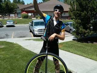 [VIDEO] The One Wheel Man is UNICYCLING Utah to Canada for The Deaf Dream