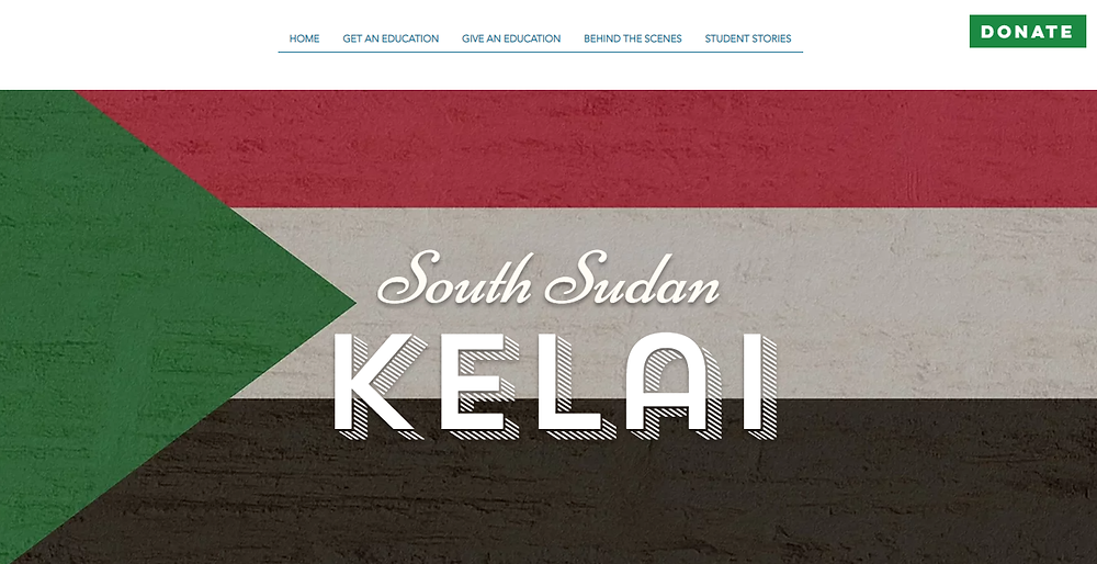 The South Sudan Flag with Kelai's name in front. The Deaf Dream.