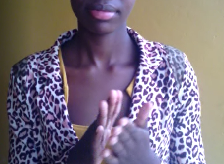 We have our 4th Deaf Dreamer: Amuge from Uganda!