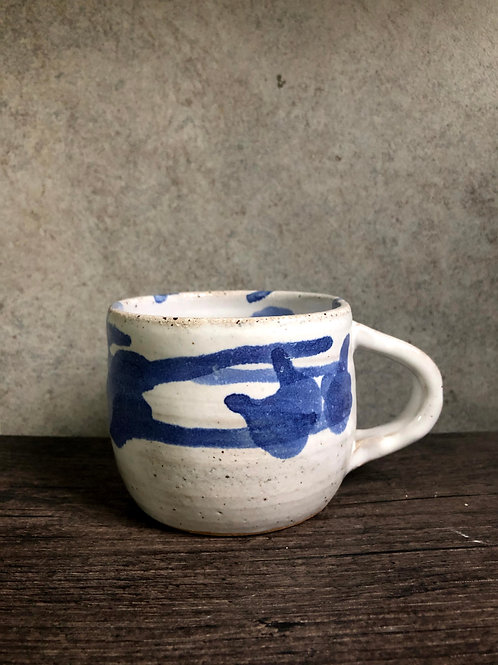 Water colour white glaze coffee mug