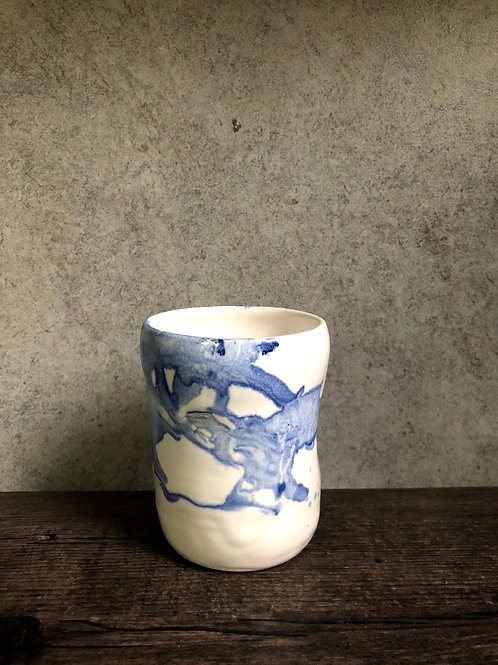 Water colour white glaze cup