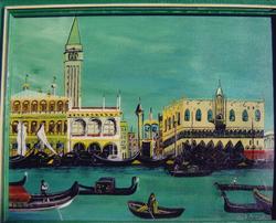 """Jozsef Burge """" Venice Gondolas """""""