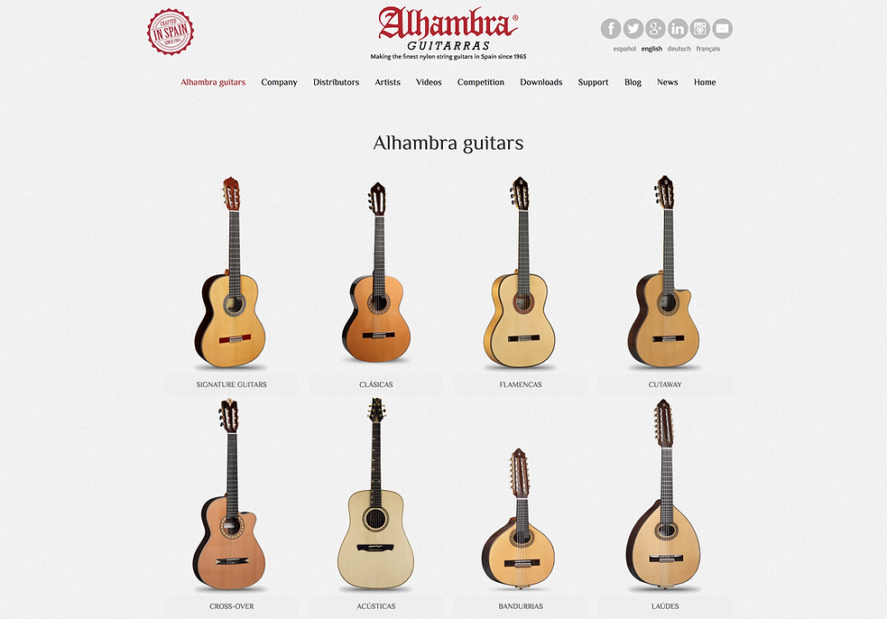 Alhambra Guitars Made In Spain