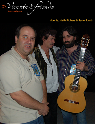 Keith Richards & Javier Limon Vicente Carrillo Guitars Made In Spain