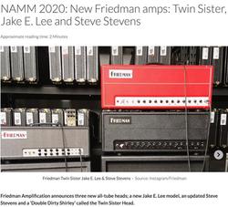 Friedman New Amps NAMM 2020