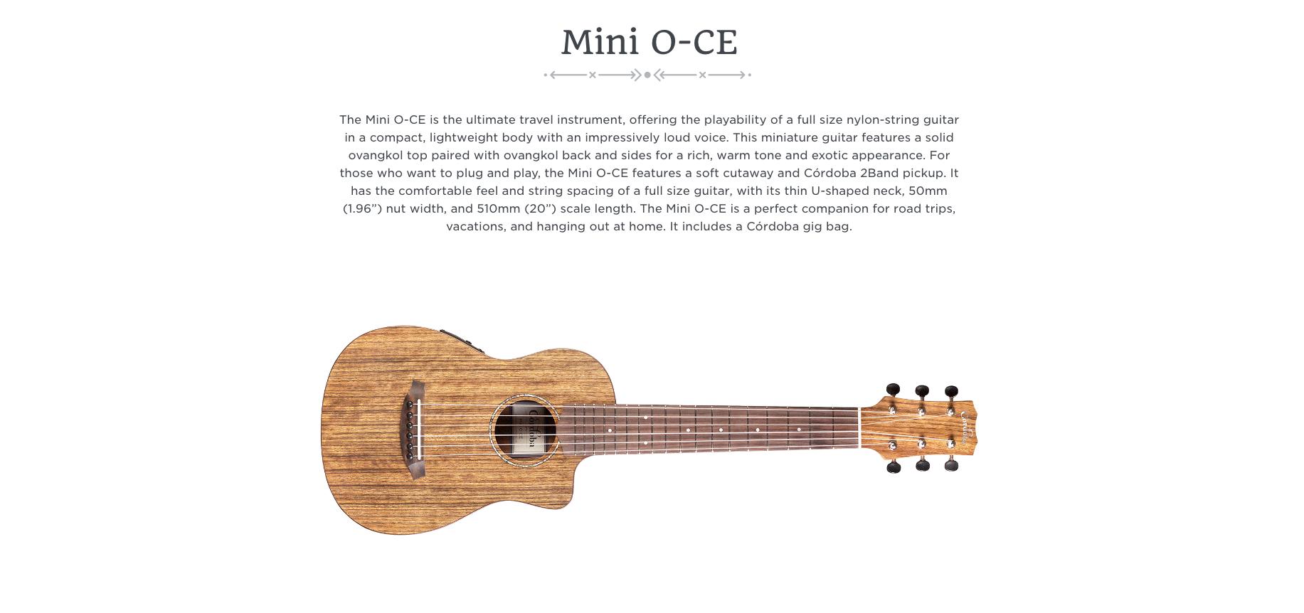 Cordoba Mini O-CE  Dealer Canada