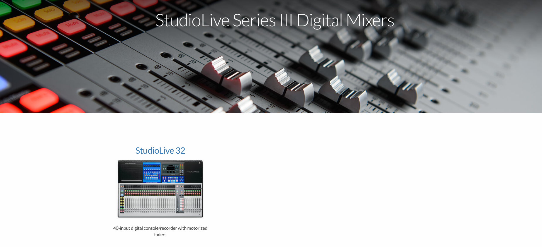 StudioLive Series III Digital Mixers