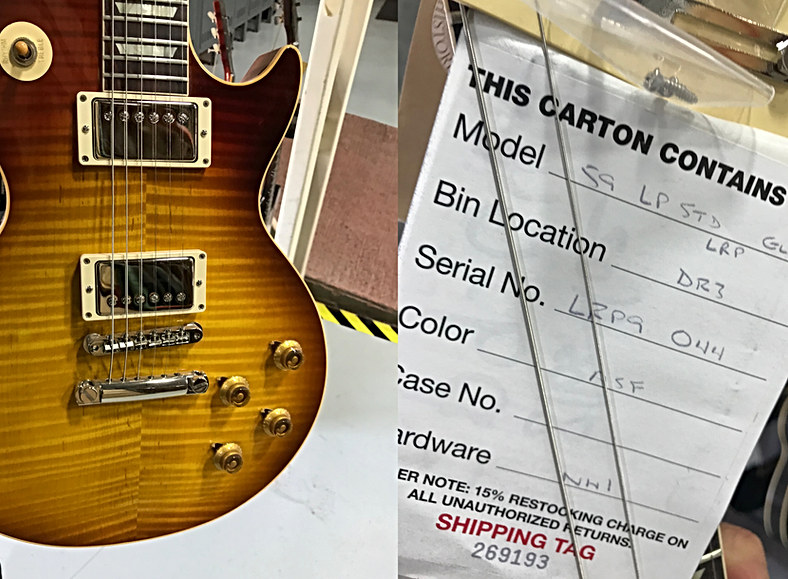 Hand Picked Lee Roy Parnell 59 Les Paul AAA Top Arriving Soon Call 604 682 4422