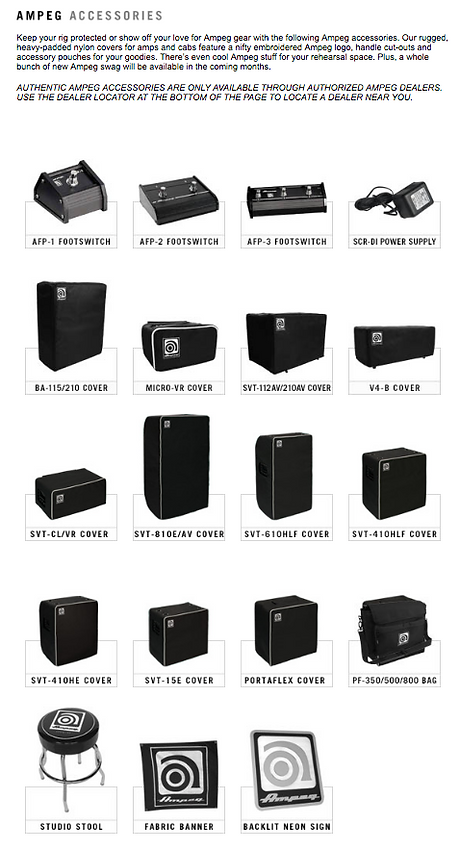 Ampeg Accessories Dealer Canada