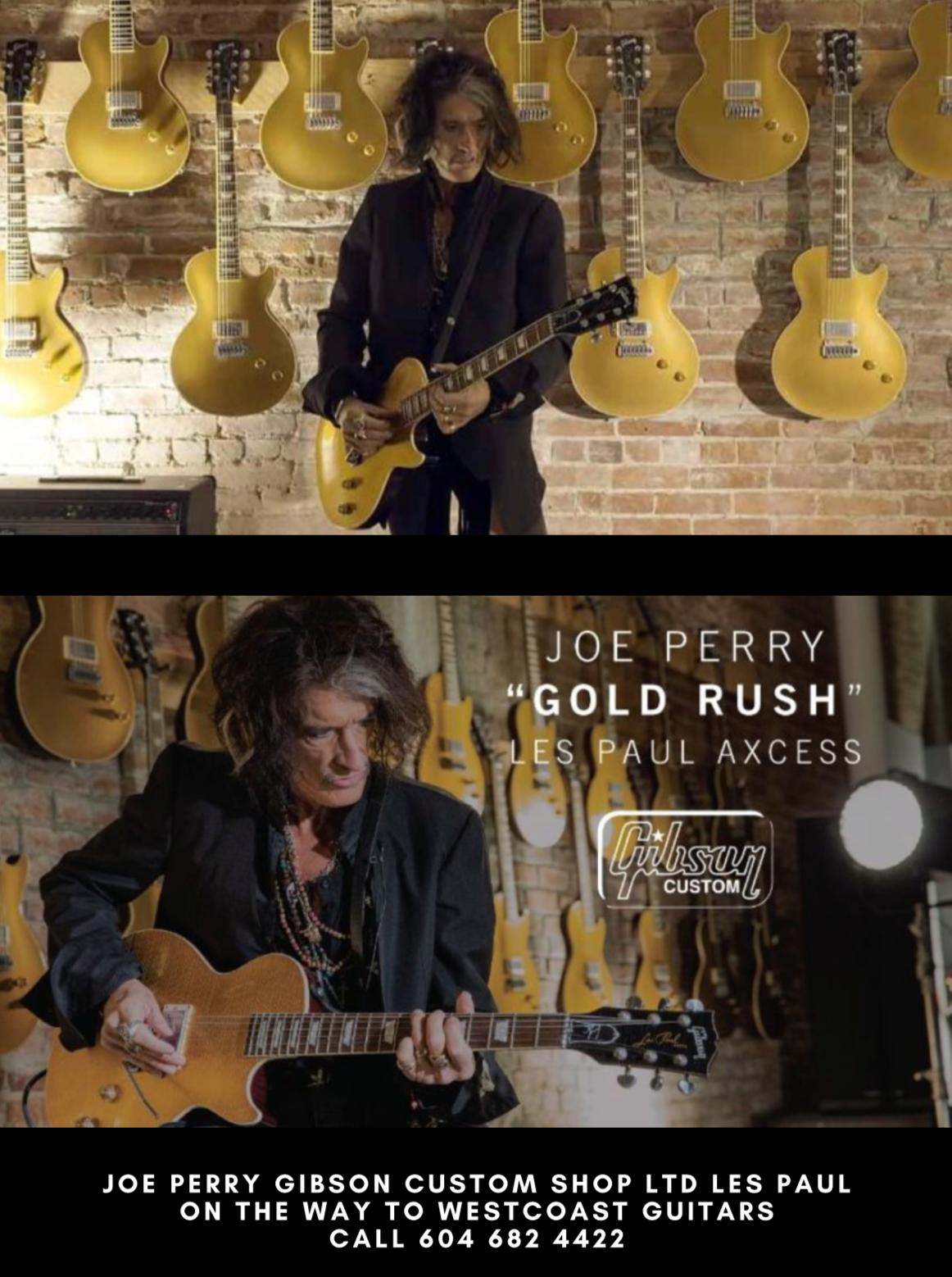 Joe Perry Gold Rush Les Paul Axcess