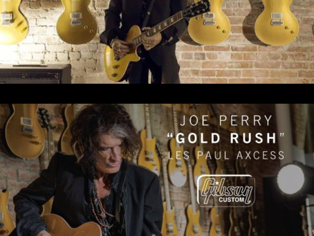 "Joe Perry Limited Run ""Gold Rush"" Les Paul Access on the way to Westcoast Guitars"