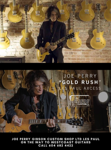 Joe, Perry Gold Rush Access Les Paul Limited Edition Arriving Soon At Westcoast Guitars