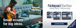 Soundcraft Notepad Series Analogue Mixing & USB Recording