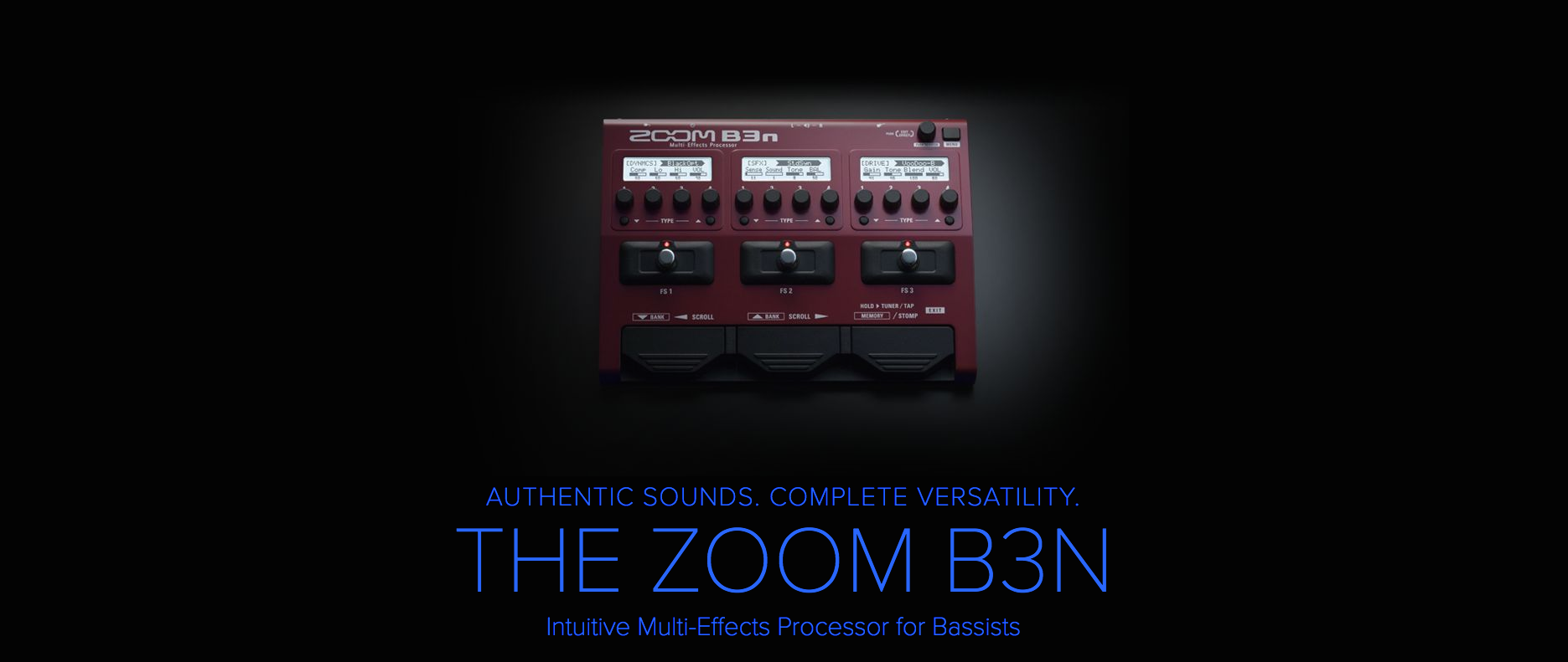 Zoom B3N Bass Multi-Effects