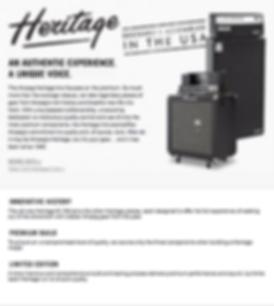 Ampeg Heritage Series Dealer Canada