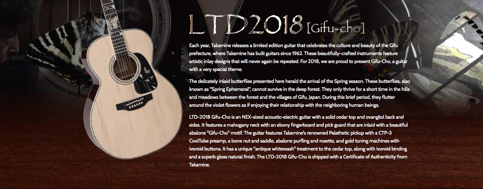 Takamine LTD 2018 Gifu-cho