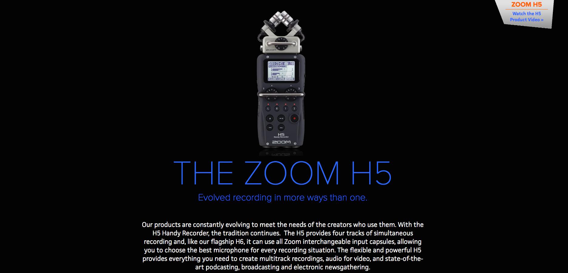 Zoom H5 Online Dealer Canada