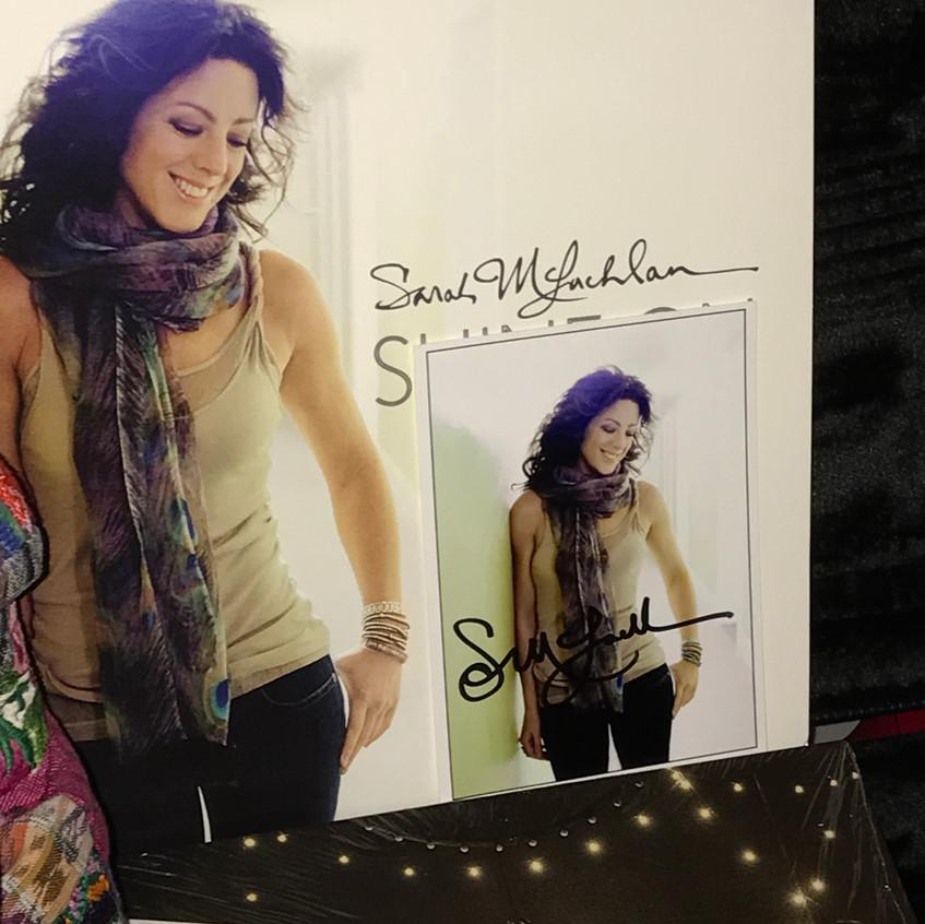 Sarah McLachlan Signed Memorabilia