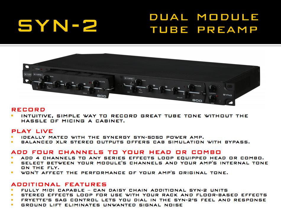 Synergy Syn-2 Dual Module Tube Preamp