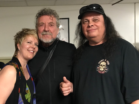 Robert Plant signs Guitar from Westcoast Guitars for Charity