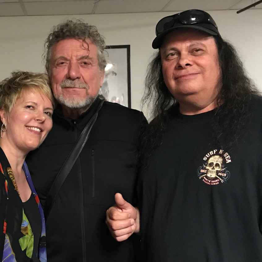 Robert Plant with Glen and Shannon copy