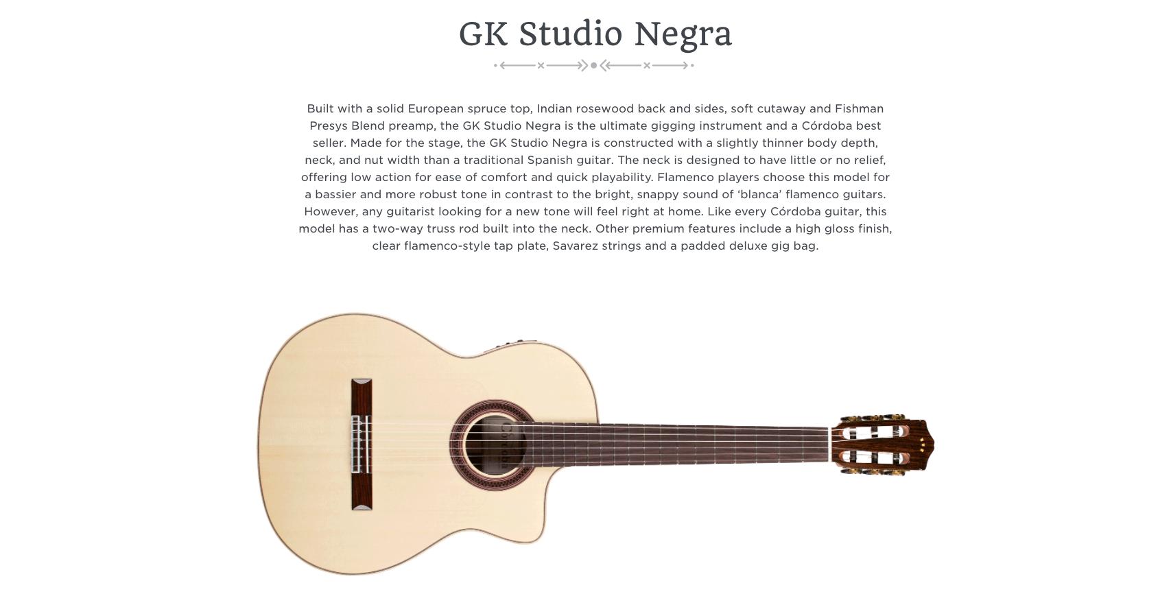 Cordoba GK Studio Negra Canada