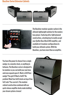 Quilter Bassliner Extension Cabinets