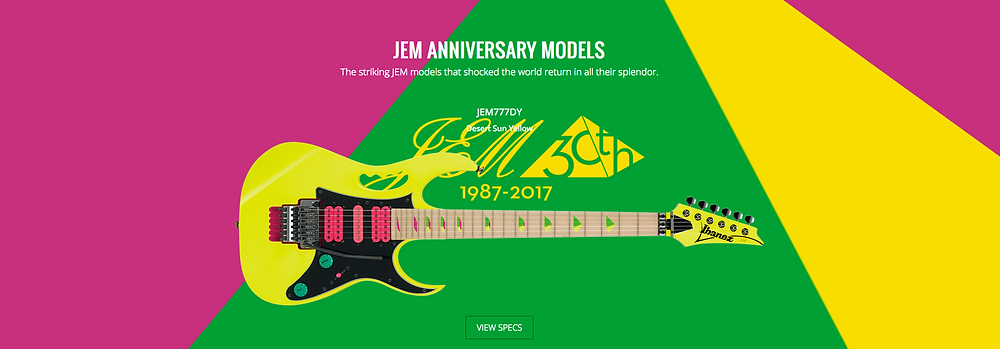 steve, vai, jem, ibanez, 30th, anniversary, limited, edition, available, canada, order, now,
