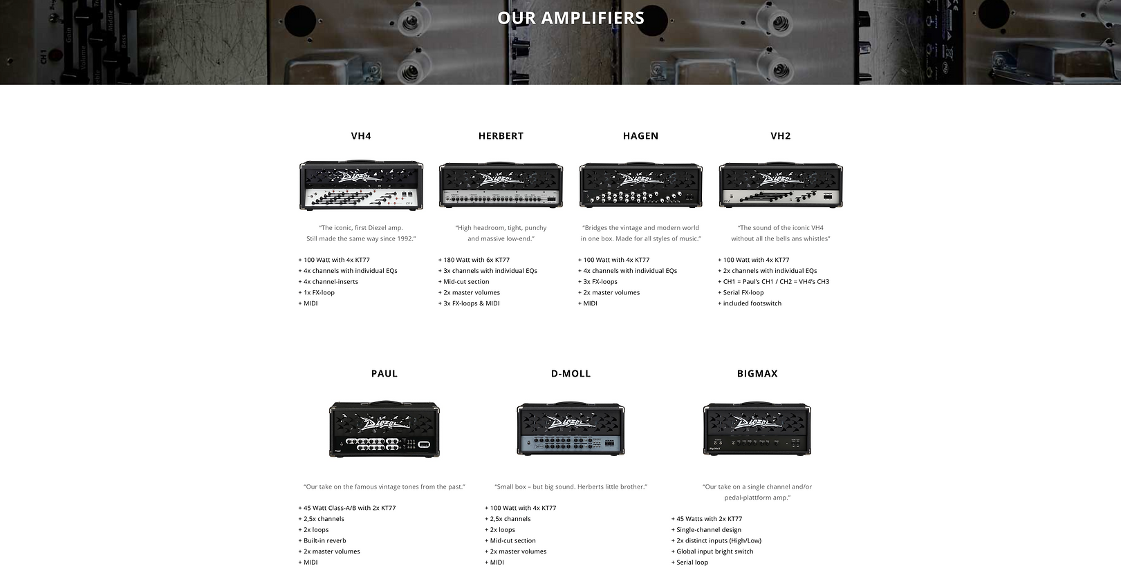 Diezel Amps Dealer Canada Contact Us To Special Order 604 682 4422 FREE SHIPPING