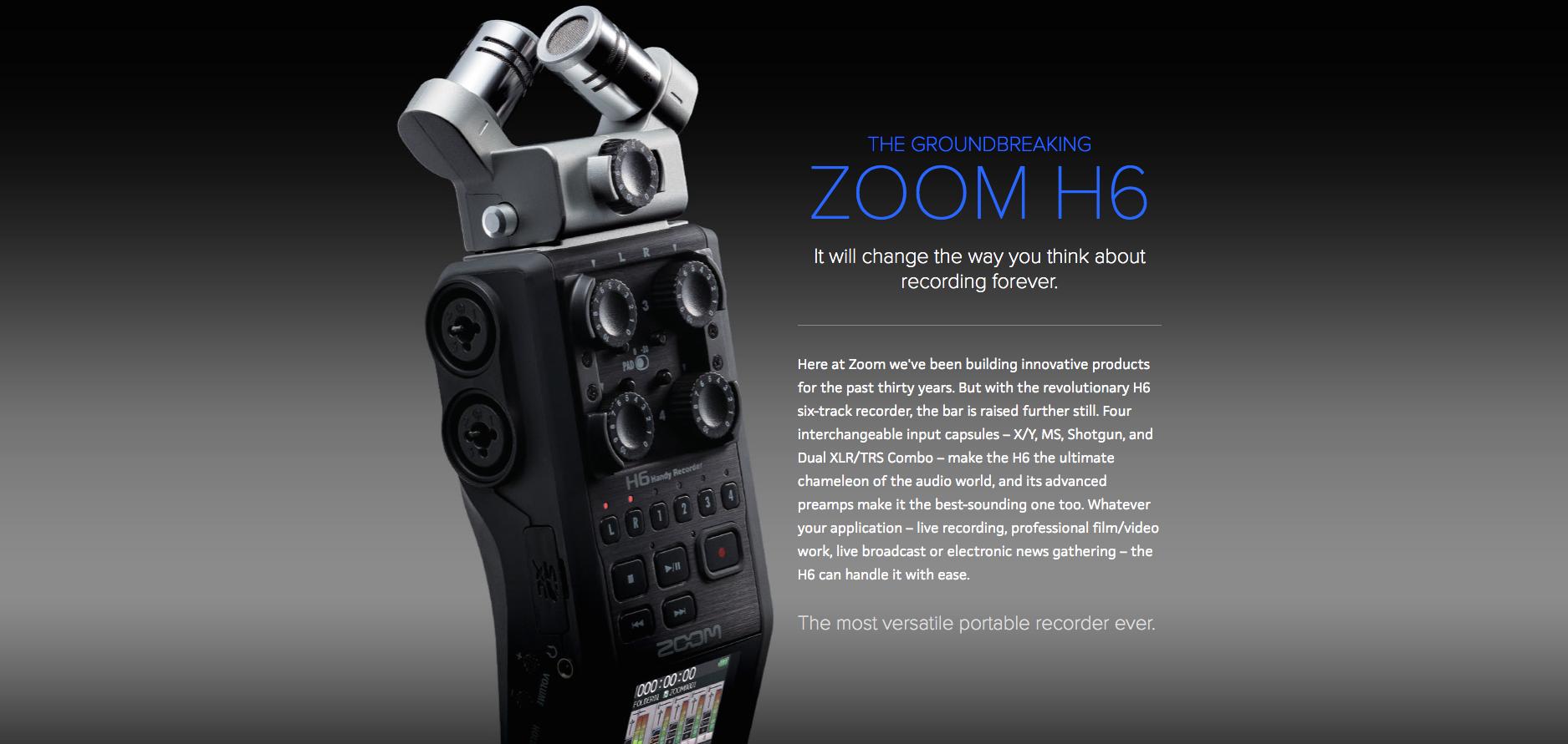 Zoom H6 Dealer Canada