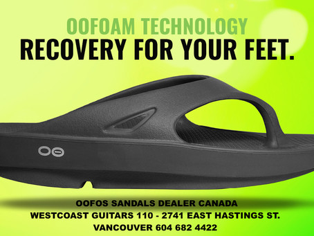 OOFOS Recovery Sandals Canada Online Sales Country Wide Shipping 604 682 4422