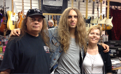 Nick Johnston with Glen and Shannon