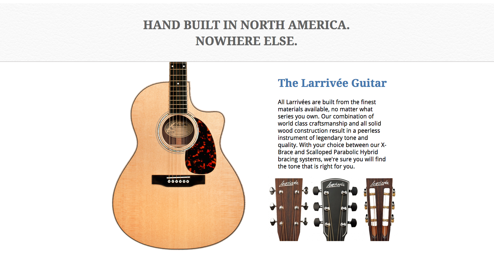 Larrivee Guitars Dealer Canada