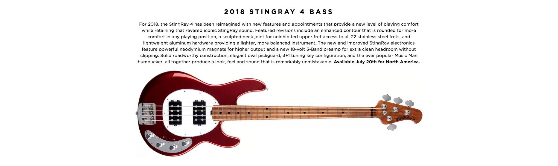 2018 STINGRAY 4 BASS