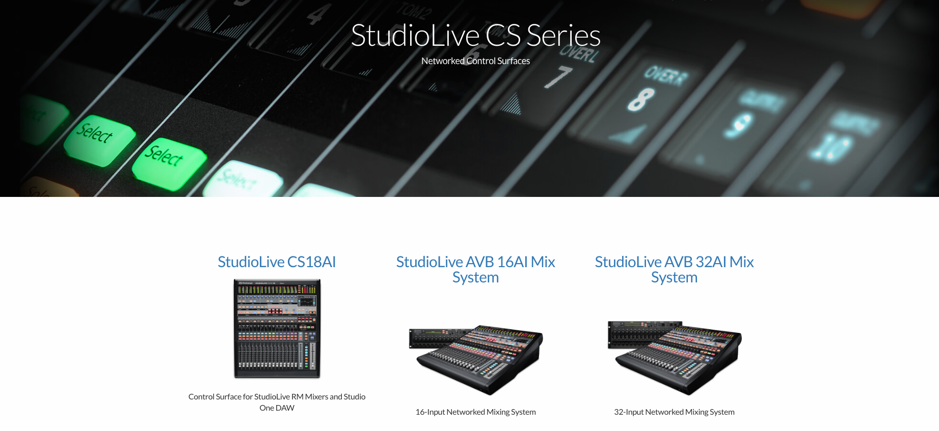 StudioLive CS Series Dealer Canada