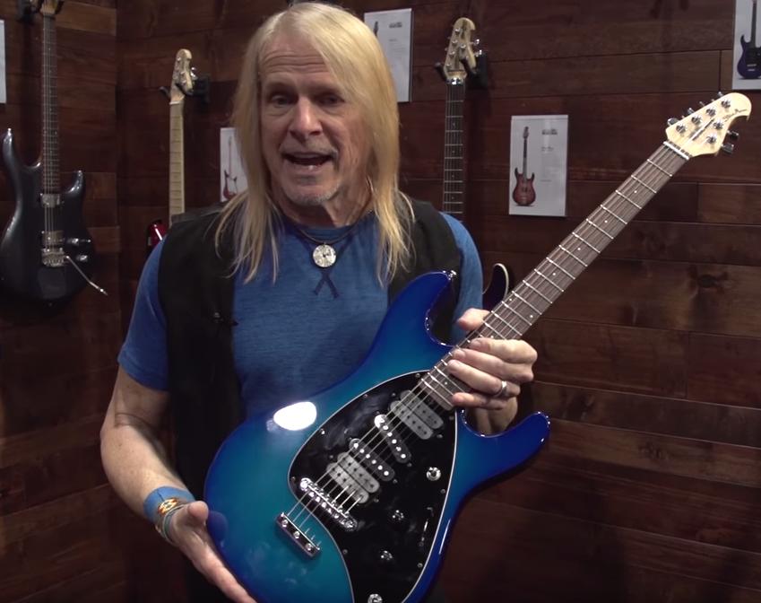 Steve Morse at NAMM 2017 Westcoast Guitars Ernie Ball Dealer Canada